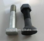 Square head track bolt of railroad fasteners