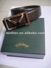 leather golf belt