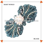 2012 ladies bow crystal beads decor cristal(HL-016)