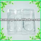 Hot sell clear 0.45mm plastic blister tray for cosmetic packaging