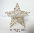Metal Star Candle Holder with pearl