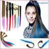 2012 Popular Heat Resistant 16inches Clip In Colour Extensions Synthetic