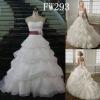 A-line Strapless Scalloped-Edged Neckline Organza Floor-length Wedding Dress FW293