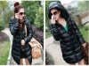 unique knee length winter down coat for women