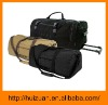 Outdoor folding canvas trolley bag