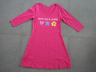 girls cotton pink long sleeves round-neck nightgown