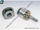 DH130 nv64dt cylinder block, SK04 nv64dt valve plate HANDOK, nv64dt piston shoe, nv64dt set retainer plate