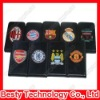 Flip Crazy Horse Leather Case with Football Club Logo for Apple iPhone4 4g 4s