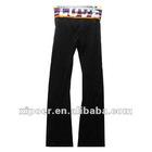 ladies 95%cotton 5%spandex yoga long pants