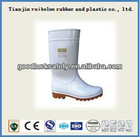 anti-grease and anti-acid white pvc safety boot for food inductry