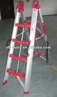 1.48m protable aluminium telescopic fold up ladder stairs