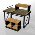 Clothes metal nesting table