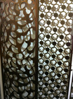 Ornametal Decorative Bronze Grille with elegant design for luxury project