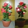 solar rose light with planter led rose light
