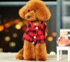 Pet clothes apparel plaid shirt