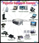 800*600 resolution LCD Projector with HD TV ready