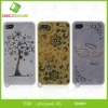 relief pattern mobile phone aluminum case cover for ip 4