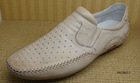 Beige Color Casual Genuine Leather Leathere Mens Shoes OEM Fashion 2010