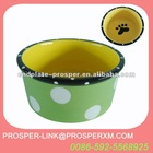 attractive ceramic pet food bowl
