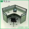 Modern wooden office partition workstation