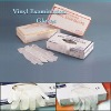 disposable vinyl gloves/vinyl powder free gloves with CE FDA