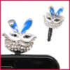 hot selling crystal earphone dust cap plug