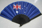 plastic hand fan with umbrella cloth and logo