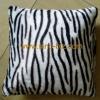 Soft printed plush cushion