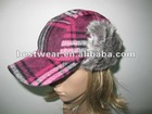 pretty high quality fur cap w/brim hat
