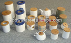 Various plactical bamboo lid for ceramic canister