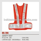 orange V safety vest for adult