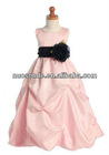 Pink Real Sample Flower Girl Dresses 2012 Under 30 Evening Gown for children kids dresses for weddings long sleeve