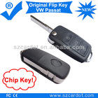 Flip Key Remote is for VW Passat Car,Remote Car Key with Transponder chip,433mhz working frequency.