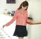 2013 new lady fashion long sleeve princess blouse