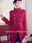 erect collar winter coat for women