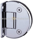 Solid brass shower hinge / semi circle wall to glass hinge / frameless glass hinge
