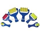 6PCS plastic handle roller brush sponge brush
