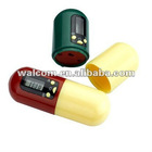 Capsule Shaped Pill box Timer With 5 Groups Timing ( plastic pill box/pill case) MDZ-8