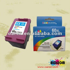 Compatible hp 60xl CC644W color ink cartridge chip reset