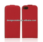 leather flip case for iphone 5 good quality