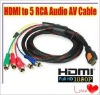 HDMI to 5RCA Cable