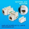 90 degree UTP Keystone Jack CAT6
