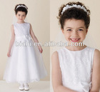 fast delivery A-line appliques tulle white lovely flower girl dresses