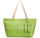 Candy color shopping bag,PU leather shoping bag