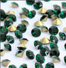 MC color crystal point back rhinestone/glass chaton/ Emerald