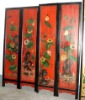 Antique wood home decoration screen