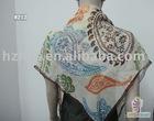 100% printed and square fashion silk scarf