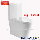 Big outlet 4 inchs sanitary ware one piece washdown toilet