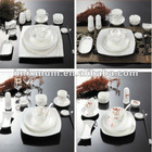 hotel table ware decal porcelain in glaze