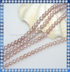 8mm off round fresh water real pearls strand